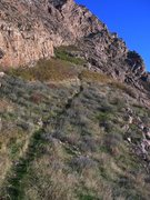 Rock Climbing Photo: ramp trail approach