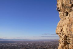 Rock Climbing Photo: Quartzite, O-Town, air... Ryan Waterfall pulling o...