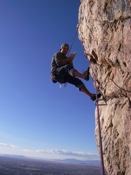 Rock Climbing Photo: hanging over ogden