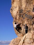 Rock Climbing Photo: nico gets started on teardrops