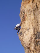 Rock Climbing Photo: toeing the arete