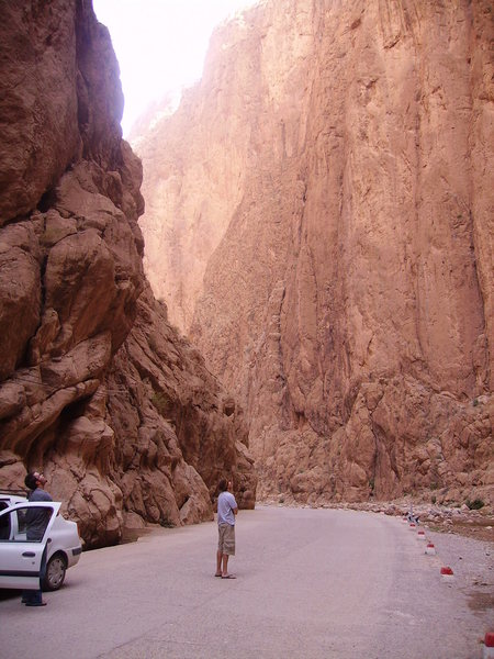 admiring yesterday's route... and saying salam alekum to the Gorge