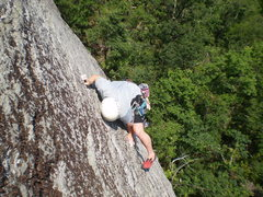 Rock Climbing Photo: Jp at the crux of the Honeymoon