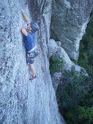 Rock Climbing Photo: Me at the upper crux