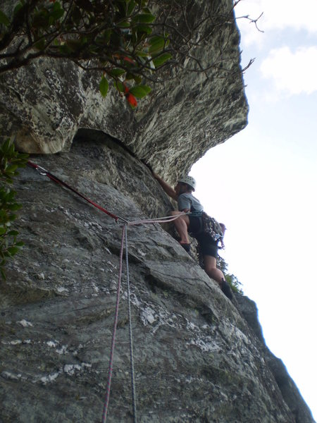 Jp at the P2 crux