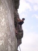 Rock Climbing Photo: Me on the short P2
