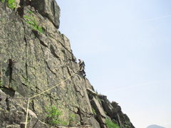 Rock Climbing Photo: Last pitch above last crux (5.6). Far from the cli...