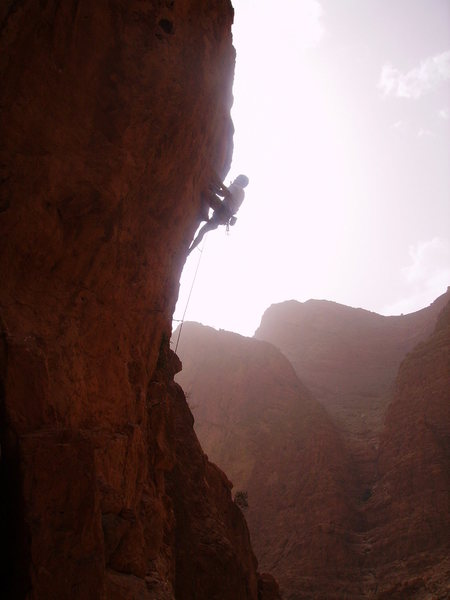 picking pockets in the Todra Gorge