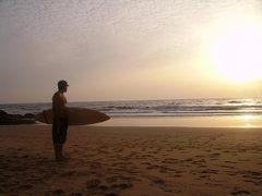 Rock Climbing Photo: the coast north of Agadir... climbing and surfing ...