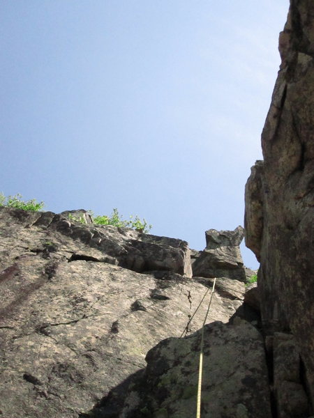 4th pitch, second crux (5.6) is one technical move.