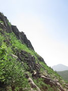 Rock Climbing Photo: Central wall of pillared bulwarks.