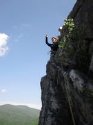 Rock Climbing Photo: 2nd pitch. Above this edge is the first talus fiel...