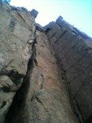 Rock Climbing Photo: Alexis McLean stemming through the crux.