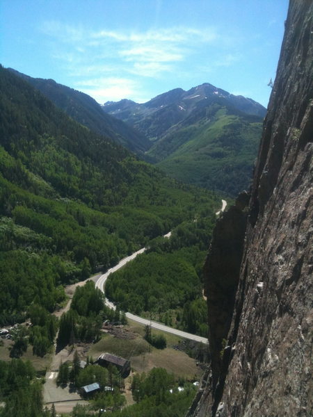 Rock Climbing Photo: Amazing views from the wall.