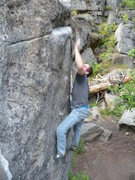 Rock Climbing Photo: the throw.