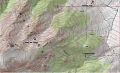 Rock Climbing Photo: annotated topo