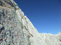 Rock Climbing Photo: close-up of the crumbly traverse
