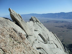 Rock Climbing Photo: steeper terrain with easier climbing on the N side