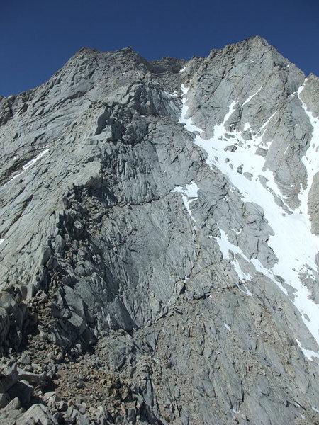 Rock Climbing Photo: lingering snow