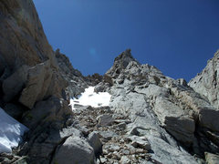 Rock Climbing Photo: final gully to the summit plateau