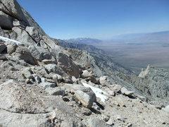 Rock Climbing Photo: keeping close to the E ridge on the descent