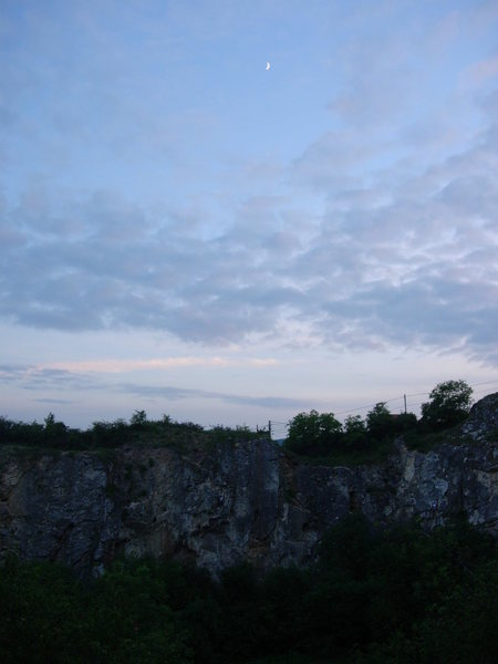 Rock Climbing Photo: Nagy Fal at Róka Hegy on a nice summer evening.