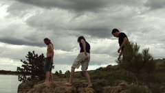 Rock Climbing Photo: Me and some friends looking for a good route up a ...