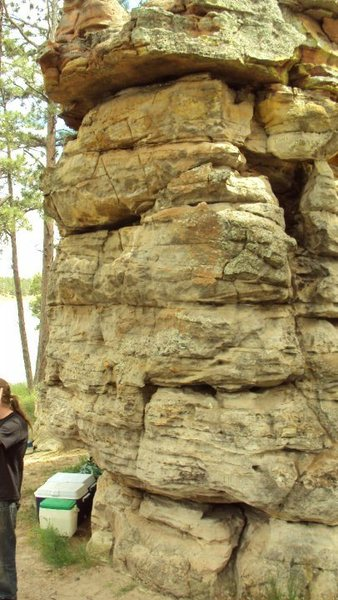 Rock Climbing Photo: A amazing bouldering spot we were camped right nex...