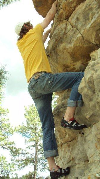 My best friend and climbing buddy travis.