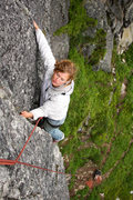 Rock Climbing Photo: Pitch one of Toto breezes by as Melissa enjoys her...