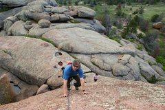 Rock Climbing Photo: Matt Clark following Southwest Friction.