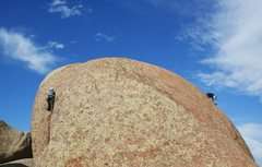 Rock Climbing Photo: Climbers on Little Old Crack (L) and Kim (R). Sout...