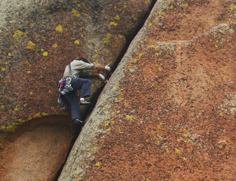 Climber on Finally.
