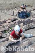 Rock Climbing Photo: Creighton Chute on the Bastille crack.