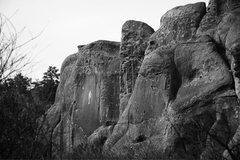 Rock Climbing Photo: Virgin Mary and Bullet the Blue Sky.