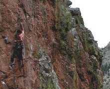 Rock Climbing Photo: Sam cruxing.