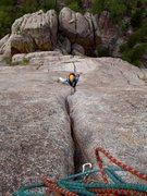 Rock Climbing Photo: Adrain bringin' up the rear.