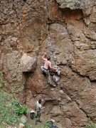 Rock Climbing Photo: Ethan on redpoint.