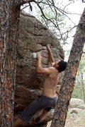 Rock Climbing Photo: Gettin' some cheese.