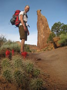 Rock Climbing Photo: Approach to Otto's Route on Independence Monument....