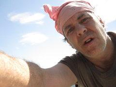Rock Climbing Photo: Self portrait done below the southwest spur slab. ...