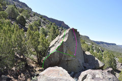 Rock Climbing Photo: Surf Report is the green line.