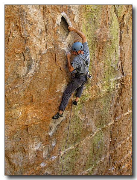 Rock Climbing Photo: Mark gastons Holey Moley's hueco.