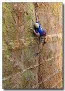 Rock Climbing Photo: Eric Deschamps reaches high for a finger crack on ...
