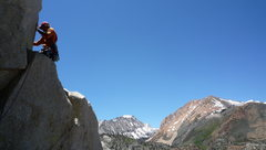 Rock Climbing Photo: Setting up the belay at the first station.