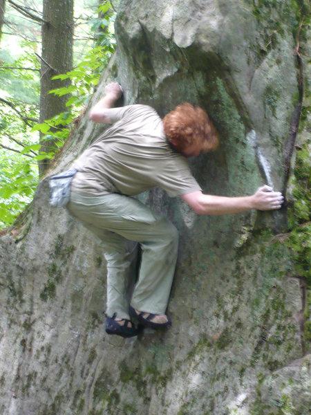 Rock Climbing Photo: Chris on FA.
