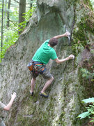 Rock Climbing Photo: John on quick second ascent