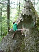 Rock Climbing Photo: John on FA of Wife Beater