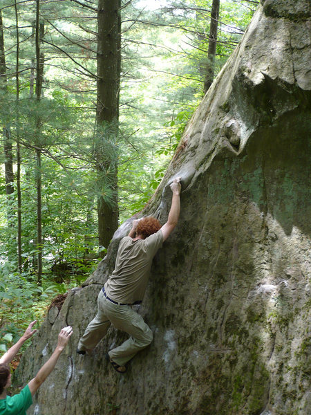Rock Climbing Photo: Chris continuing his quick second ascent. On the c...