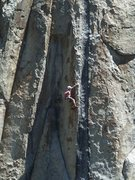 Rock Climbing Photo: Jeff G. styling the upper arete...